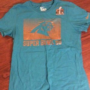 Carolina Panthers Super Bowl 50 Blue T-Shirt